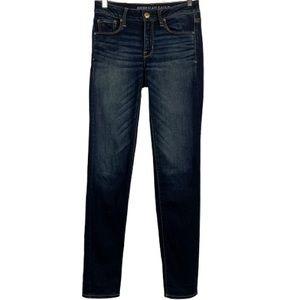 AEO Super Stretch Skinny Jeans in Dark Wash